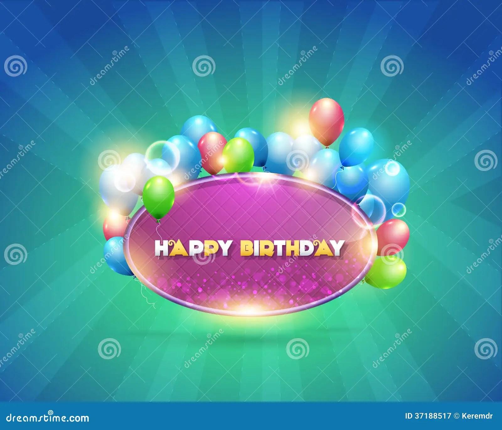 Vector Illustration Of Happy Birthday Design Backg Royalty