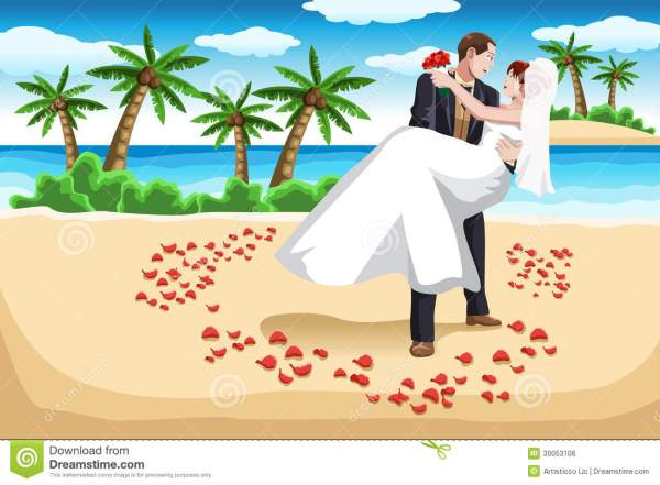 beach wedding stock vector. illustration