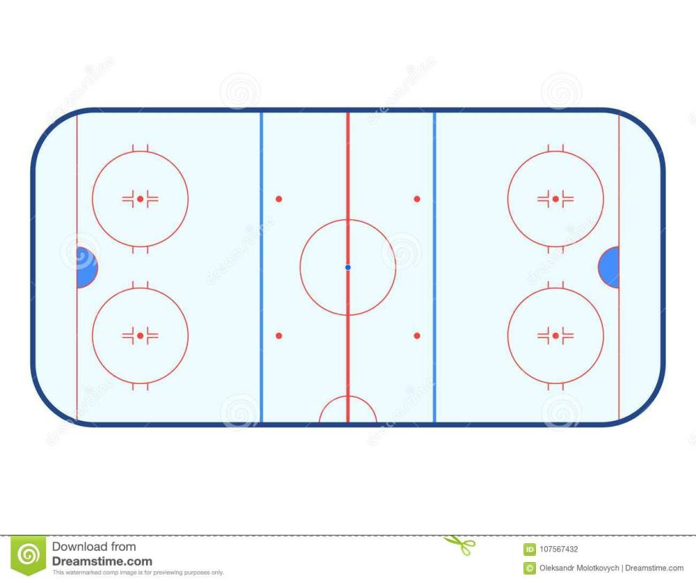 medium resolution of vector illustration of ice hockey rink top view isolated on white background