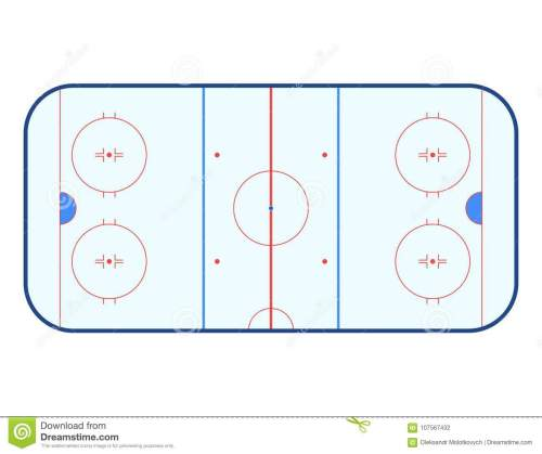 small resolution of vector illustration of ice hockey rink top view isolated on white background