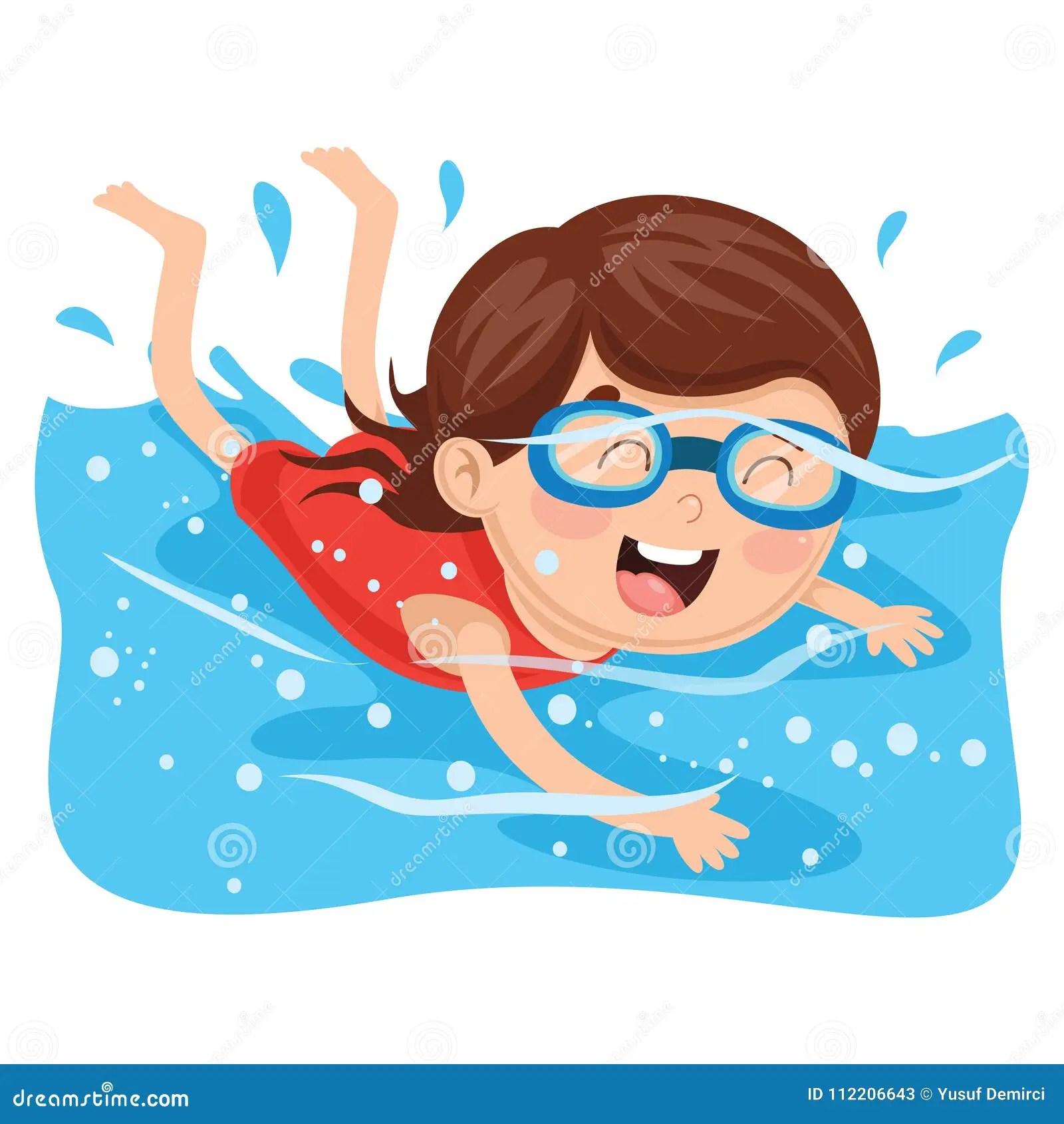 vector illustration of kid