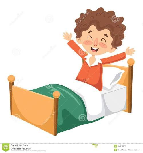 small resolution of vector illustration of kid waking up