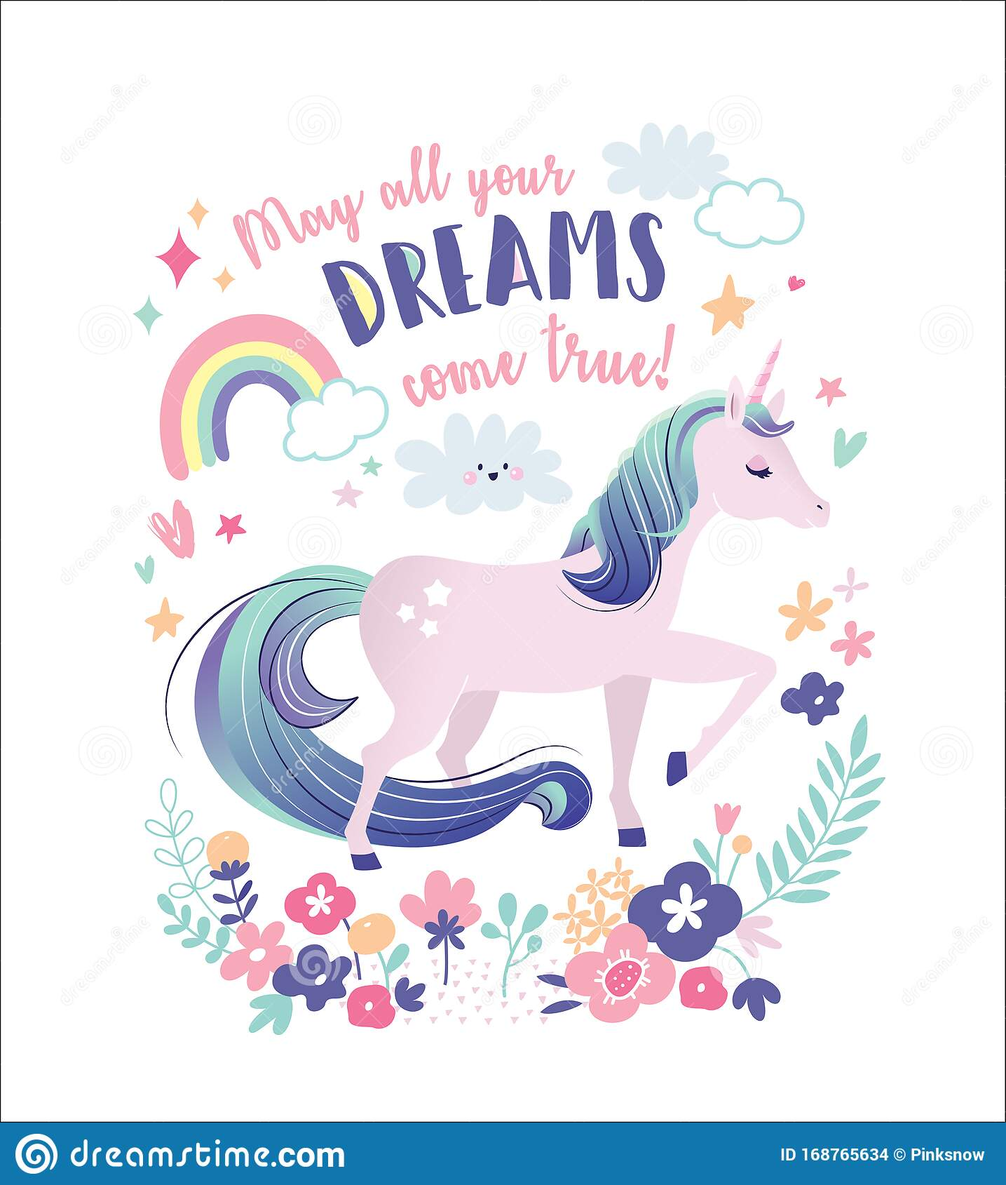 Dream researcher patricia garfield talks about dreams and dreaming. May All Your Dreams Come True Stock Vector Illustration Of Believe Heart 168765634