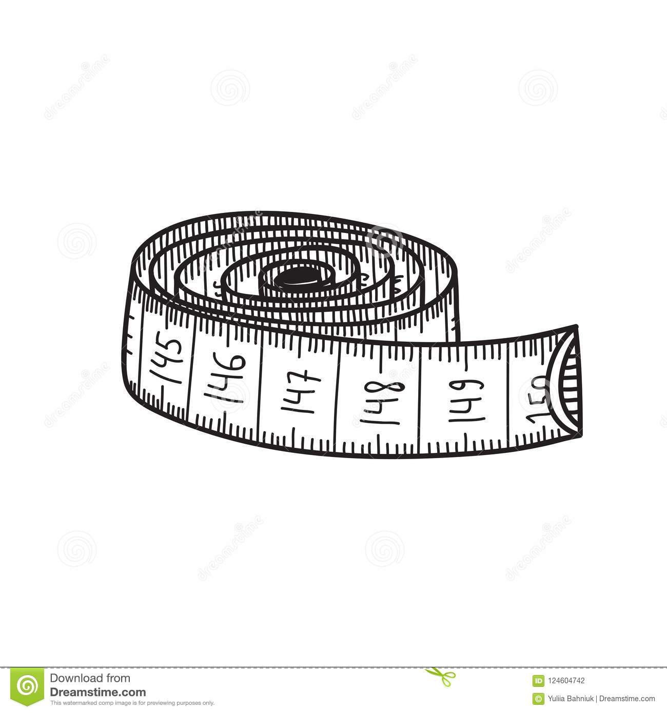 Vector Illustration Of Measuring Tape. Stock Vector