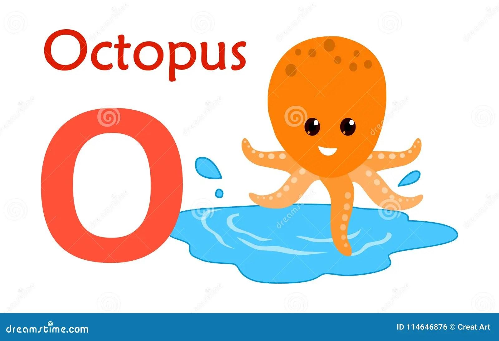 Letter O For Octopus Worksheet