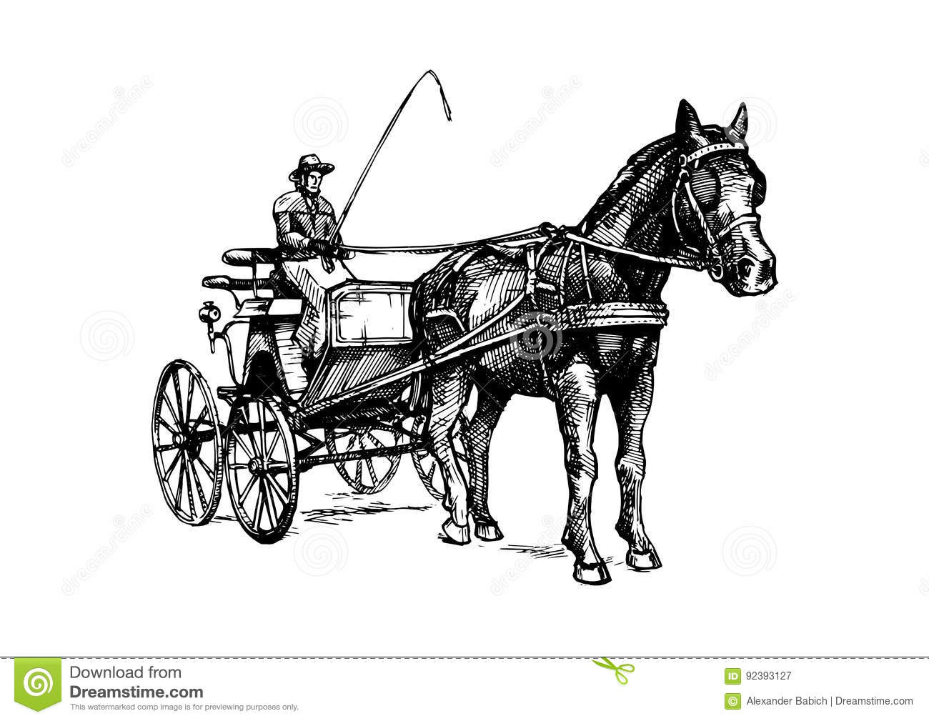 Vector Illustration Of Open Carriage Stock Vector