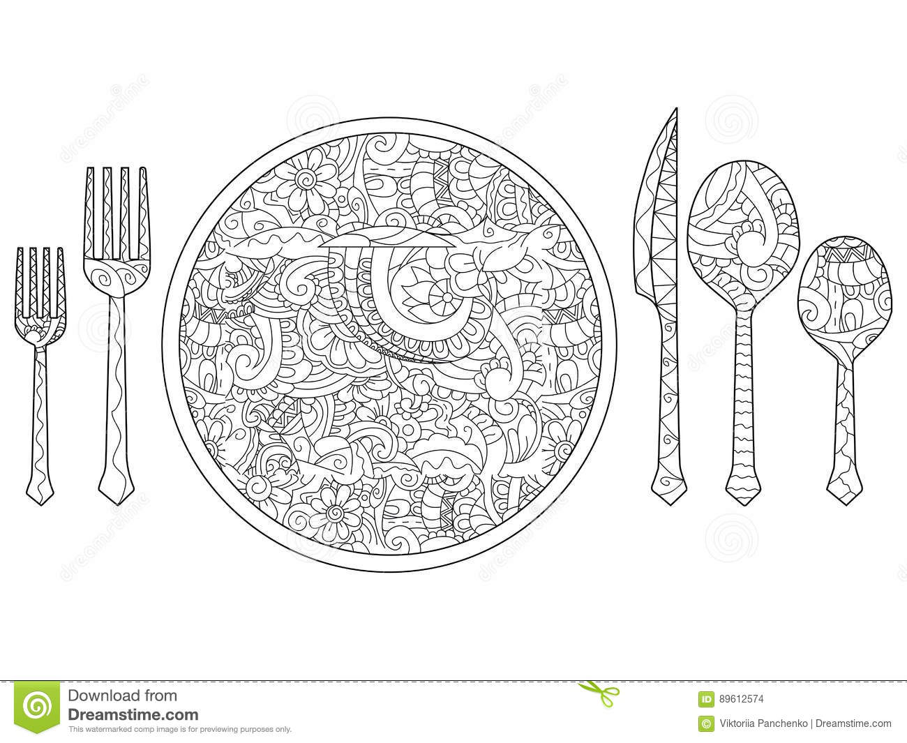 Fork Coloring Pages