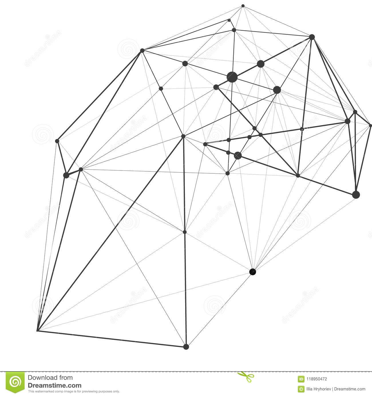 Vector Illustration.Polygon Geometry Background. Abstract