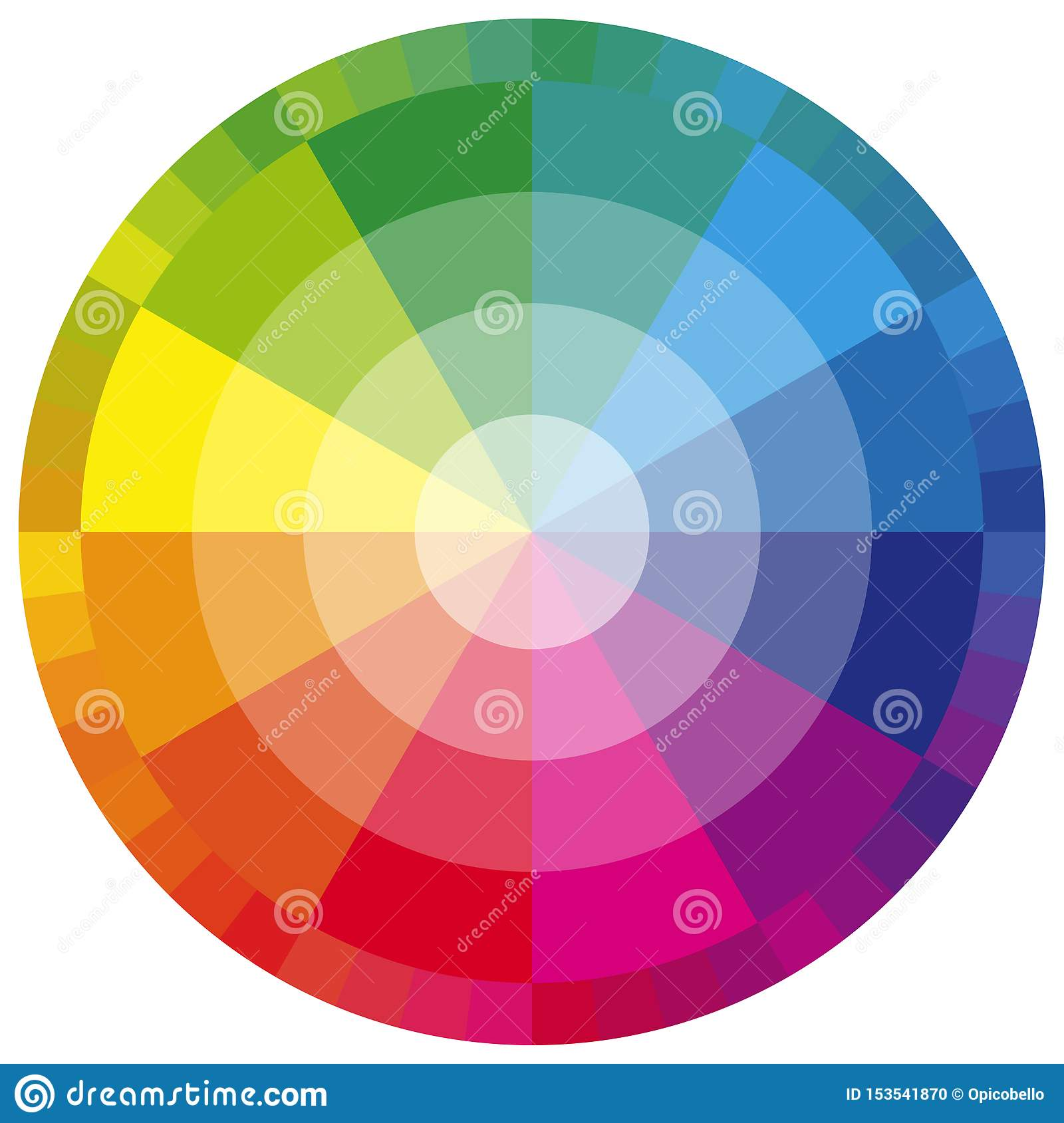 Color Wheel Twelve Colors Stock Vector Illustration Of
