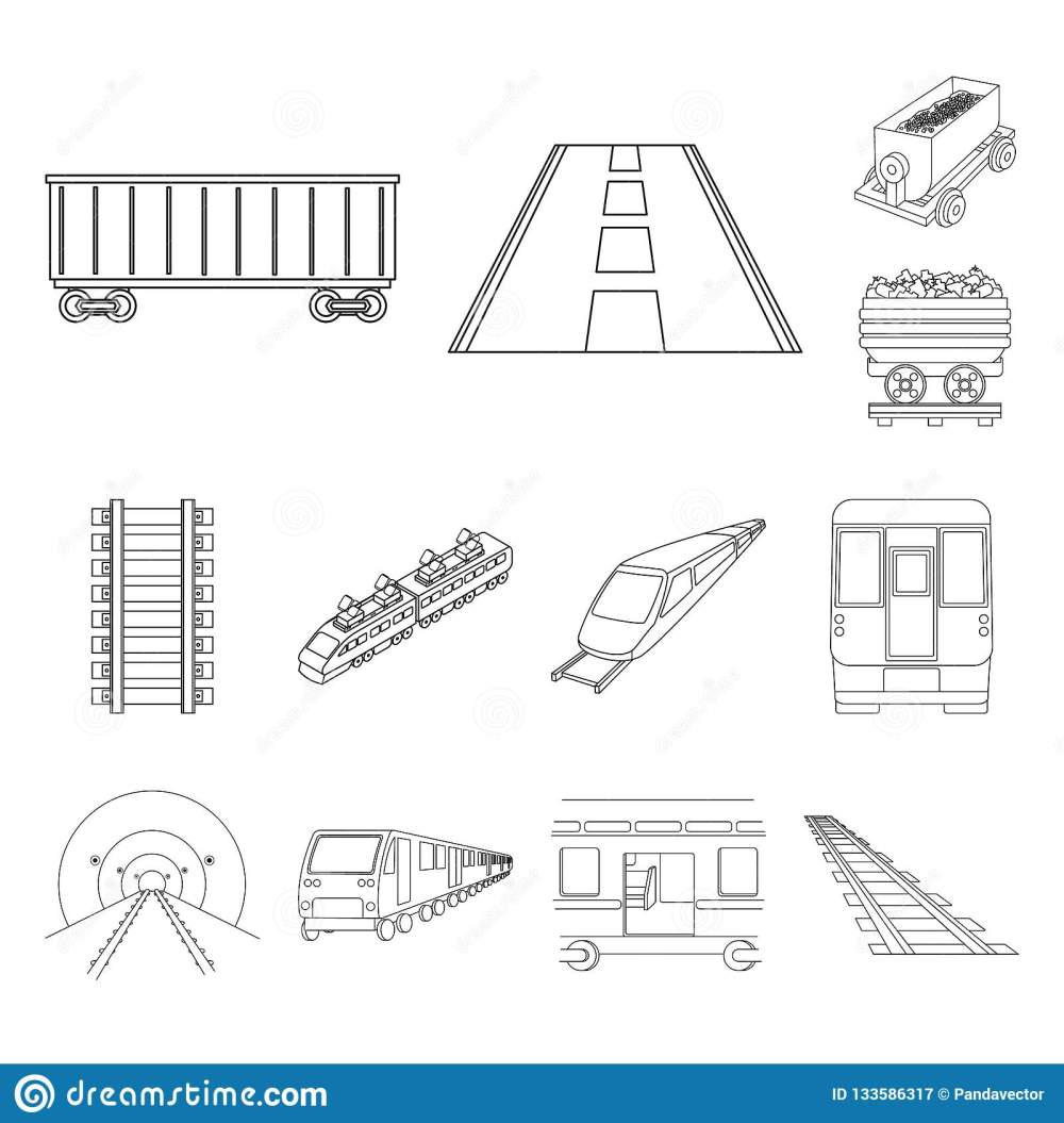 medium resolution of vector illustration of railroad and train icon set of railroad and way stock vector illustration