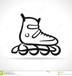 vector illustration of roller skate black icon [ 1300 x 1318 Pixel ]