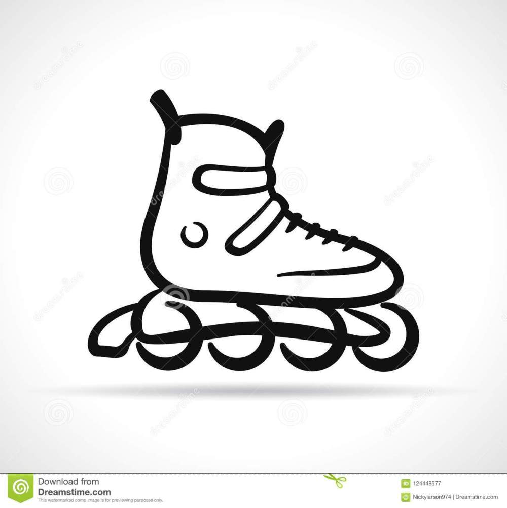 medium resolution of vector illustration of roller skate black icon