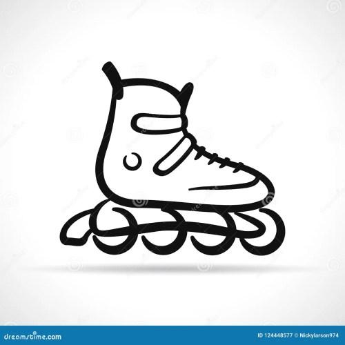 small resolution of vector illustration of roller skate black icon
