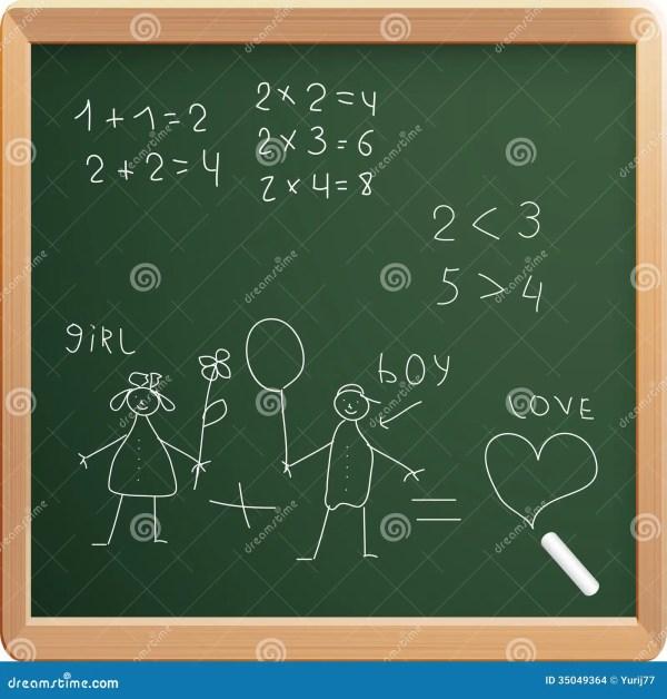Vector Illustration Of School Board Stock
