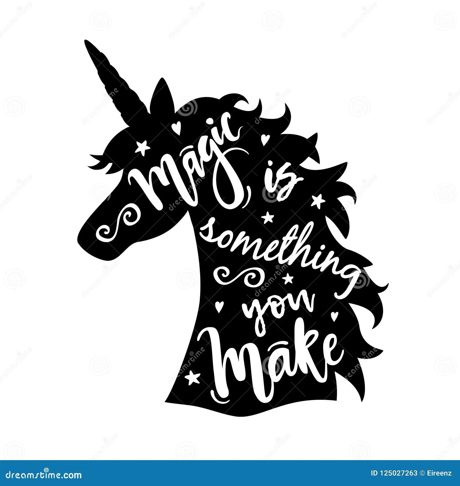 Unicorn Head Silhouette Stock Illustrations 1 555