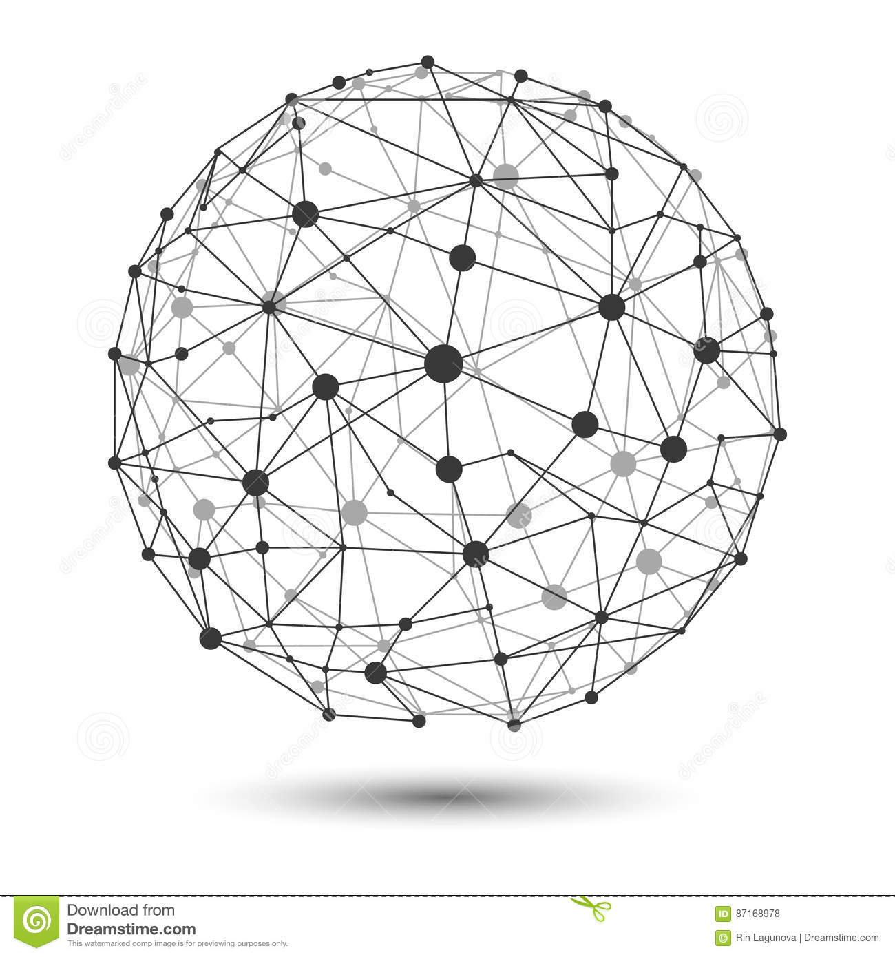VECTOR Illustration: Wire Frame Connecting Globe Network
