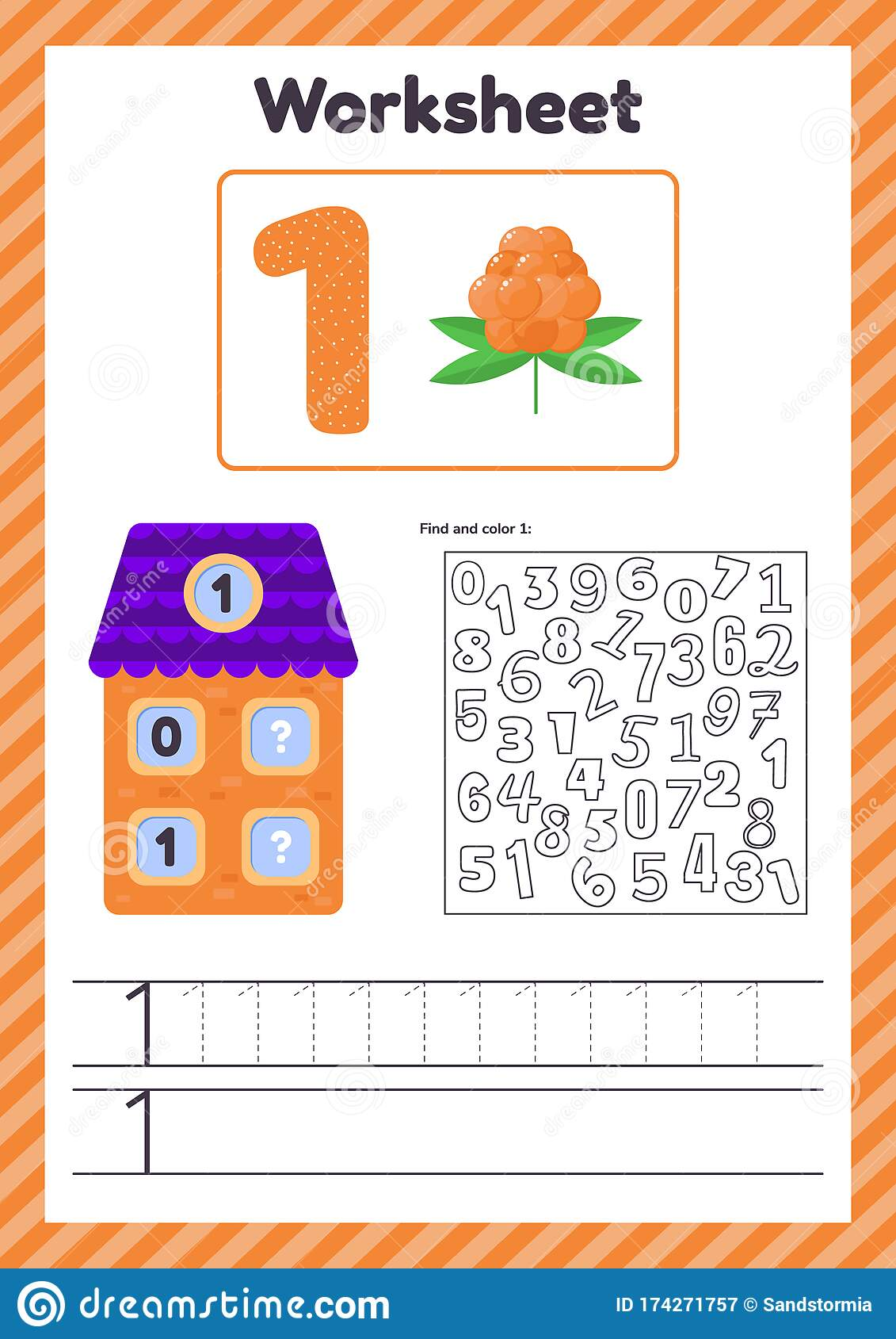 Vector Illustration Worksheet Count For Kids Berry