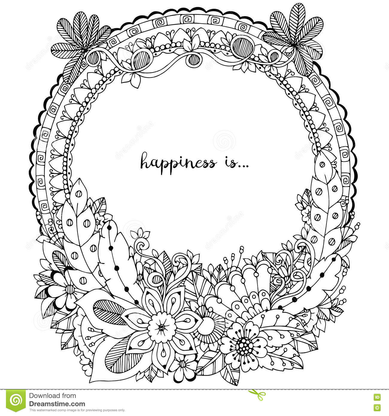 Mandala Coloring Vector For Adults Vector Illustration
