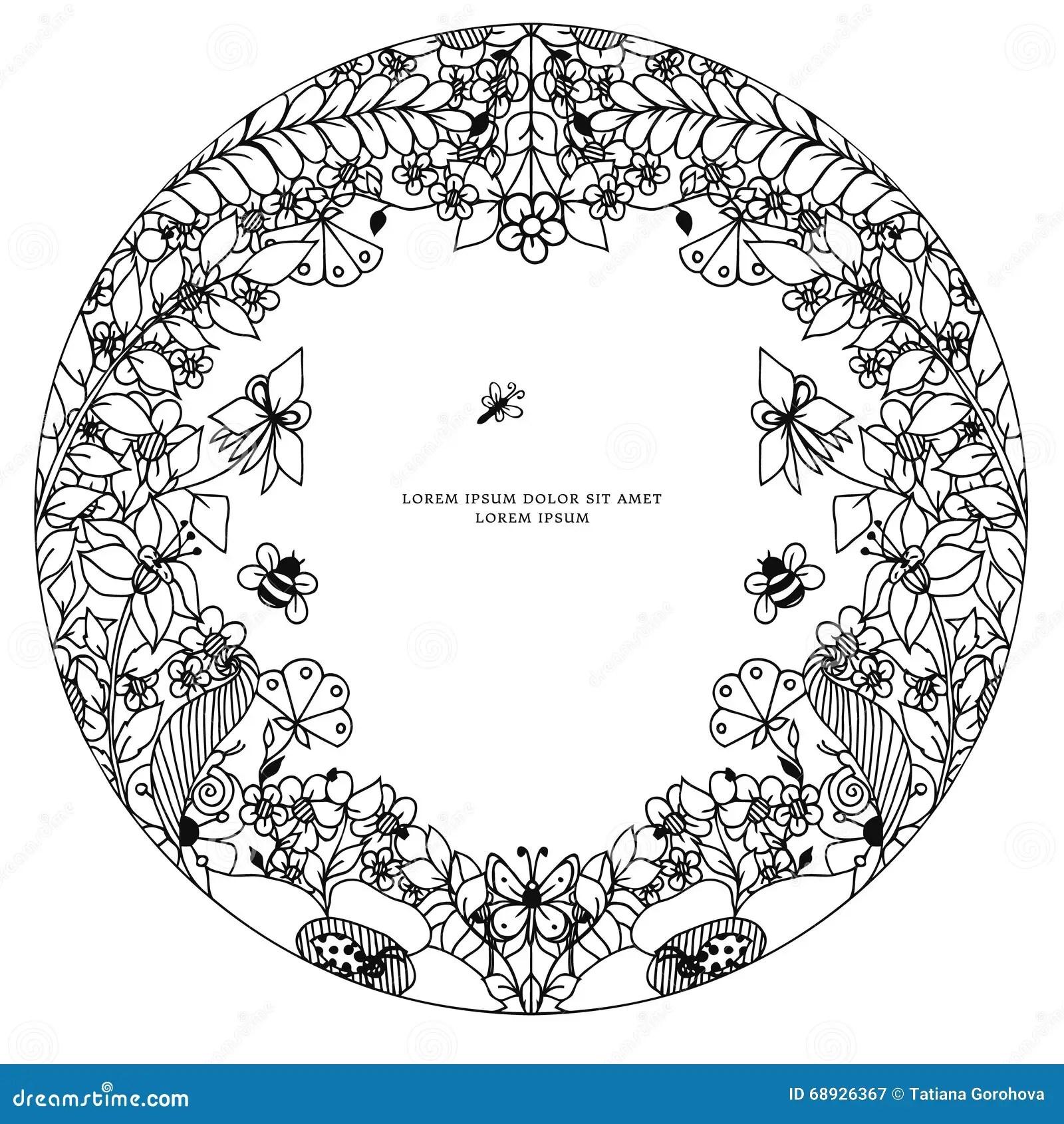 Bee Doodle Vector Illustration