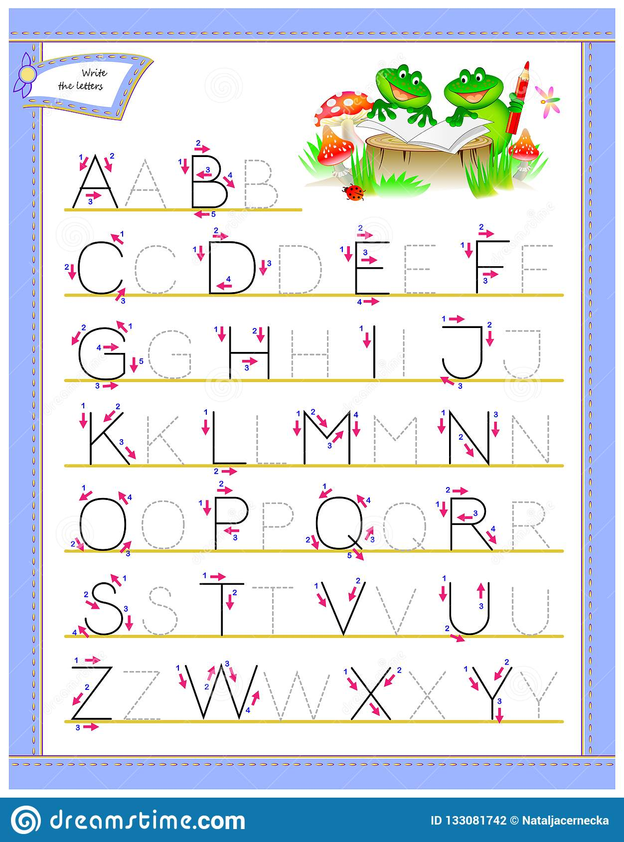 Tracing Abc Letters For Study English Alphabet Worksheet