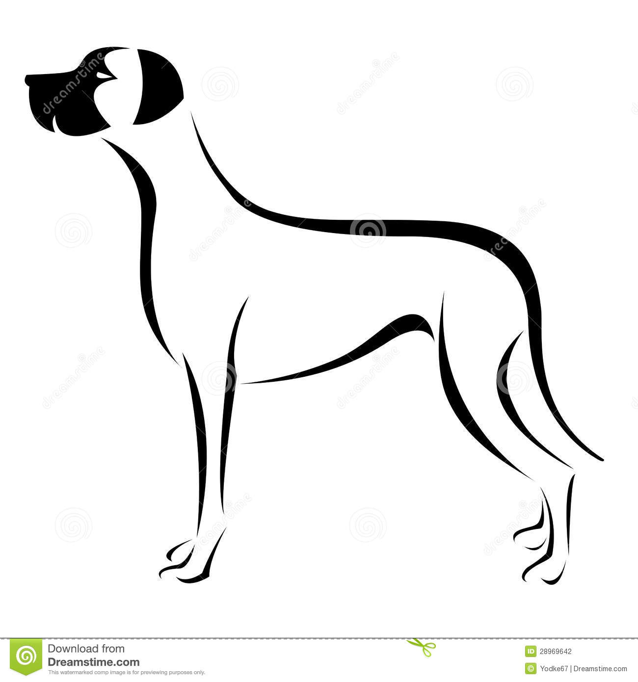 Vector Image Of An Dog Great Dane Stock Photography