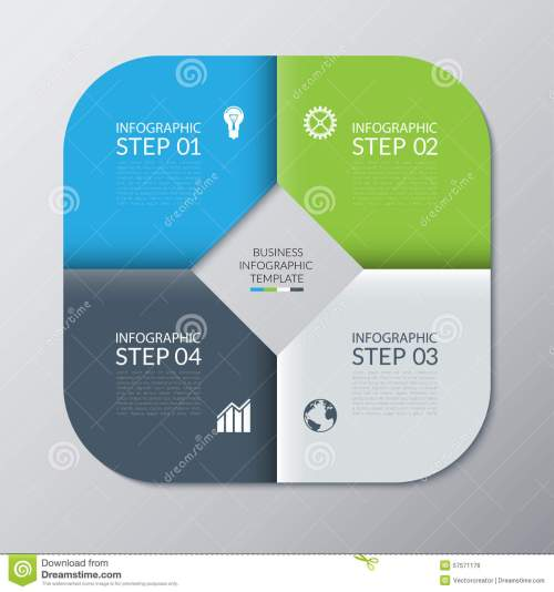 small resolution of infographic template for presentation web design cycle diagram graph round chart 4 steps options parts business concept