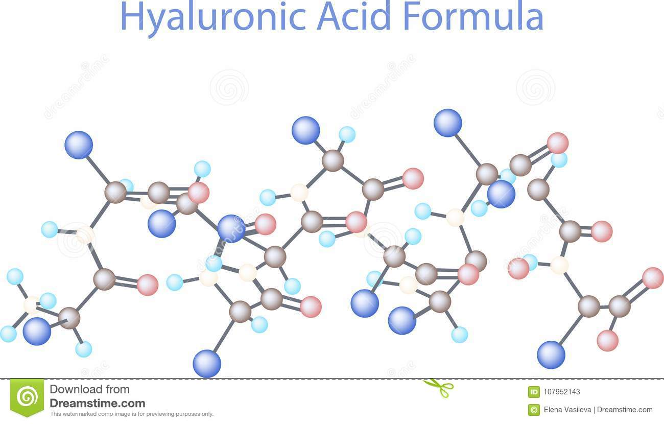 hight resolution of vector infographics scientific background hyaluronic acid research
