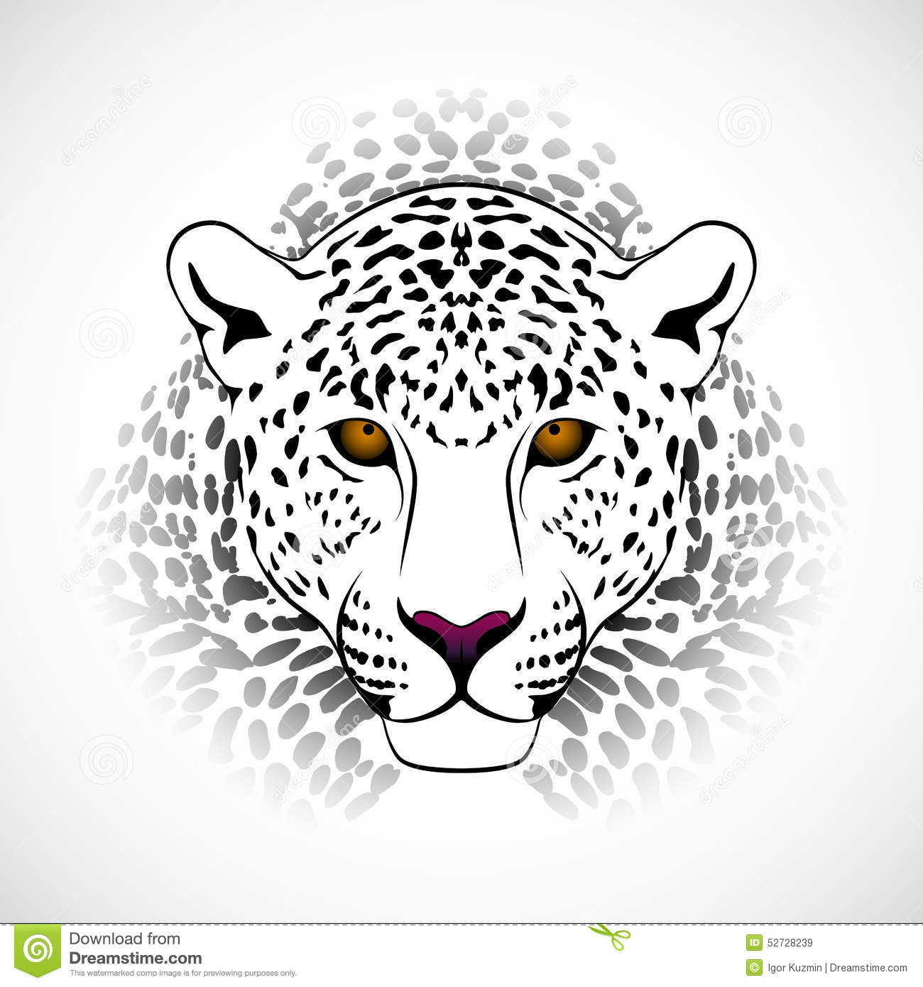 Vector Leopard Stock Vector Illustration Of Illustration