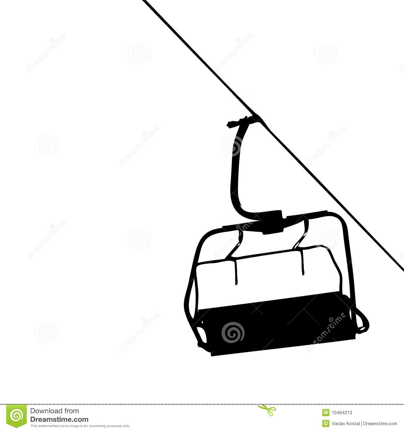 ski lift chairs for sale unique office chair vector stock illustration of black