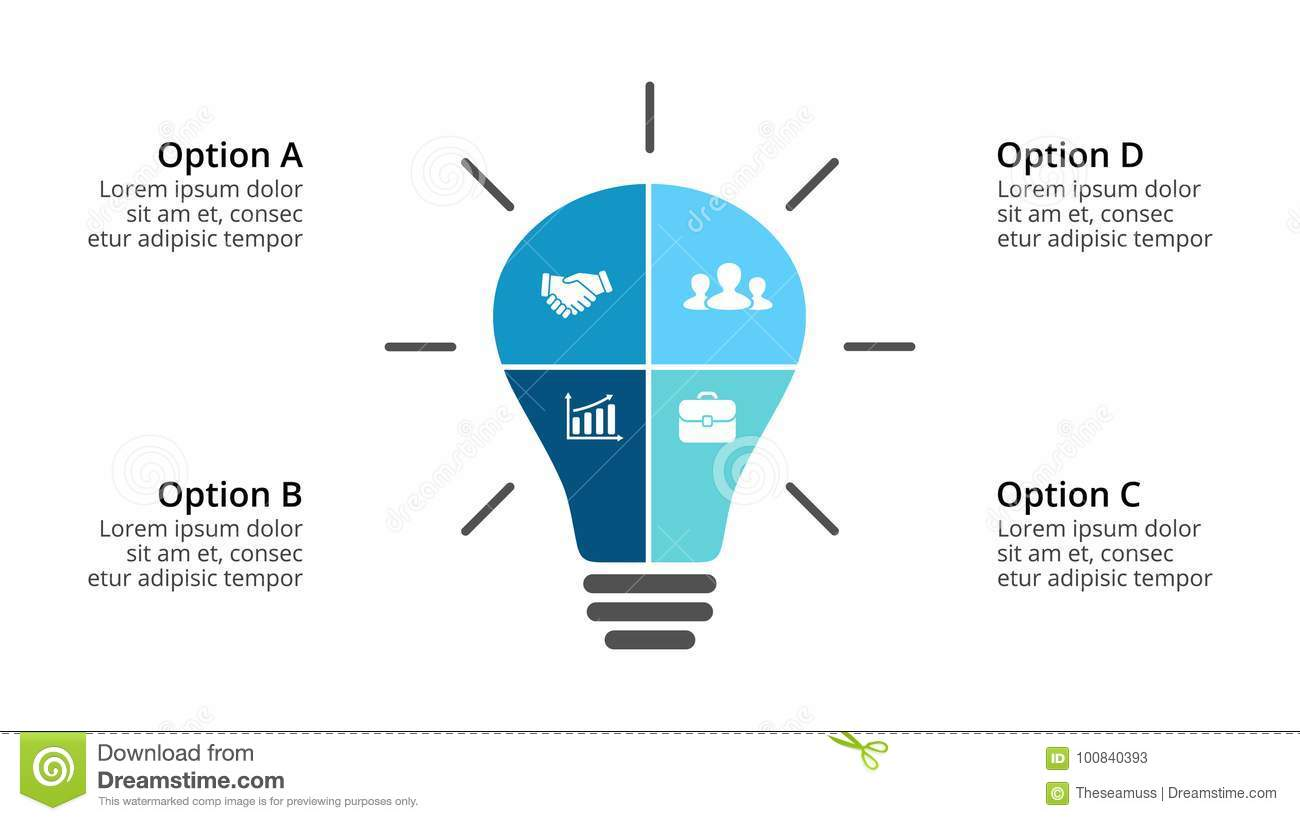 hight resolution of vector light bulb infographic template for diagram graph presentation and layers chart