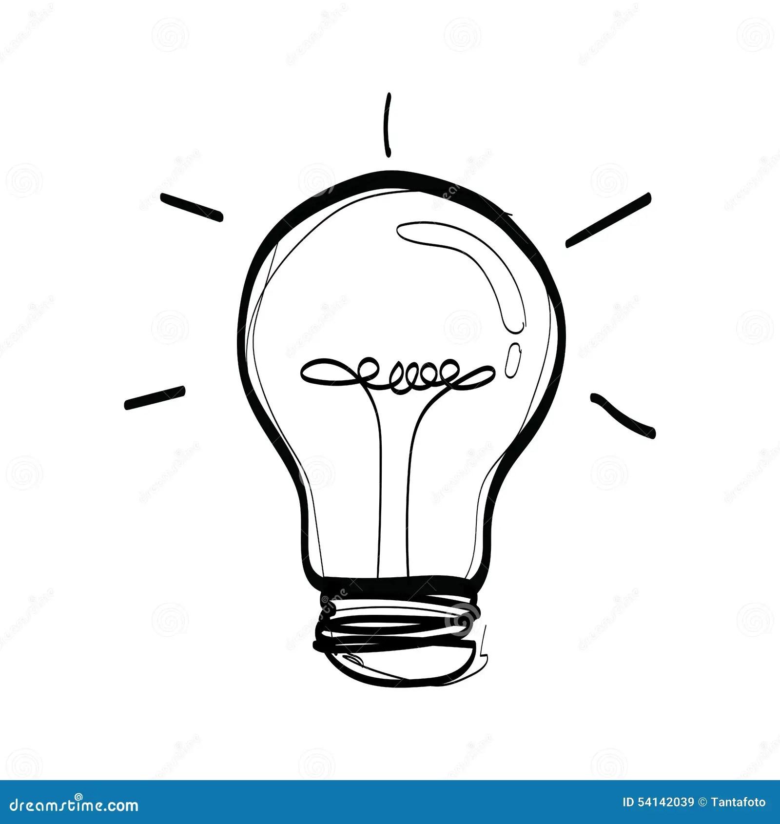 Vector Light Bulb Sketch Of A Bulb Stock Vector