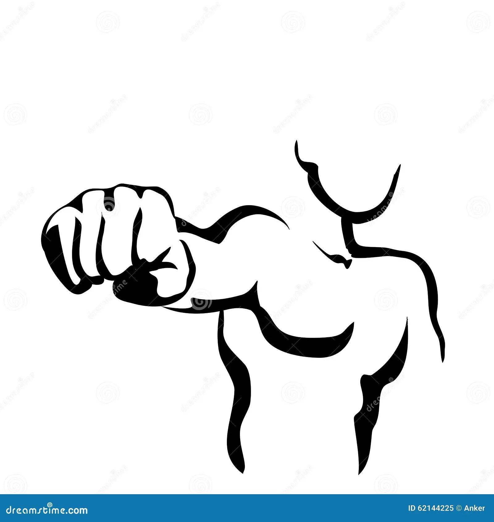 Fist Hand Draw Sketch Vector Cartoon Vector