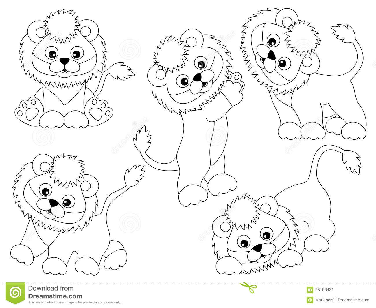Lions Cartoons Illustrations Amp Vector Stock Images