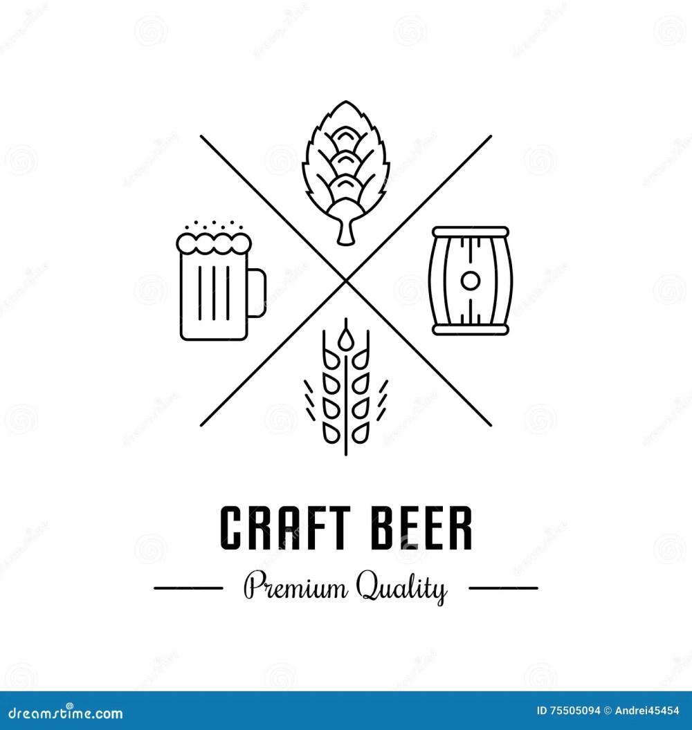 medium resolution of vector logo beer with wheat hops beer mug and barrel hipster logo label or banner for craft beer bar and pub