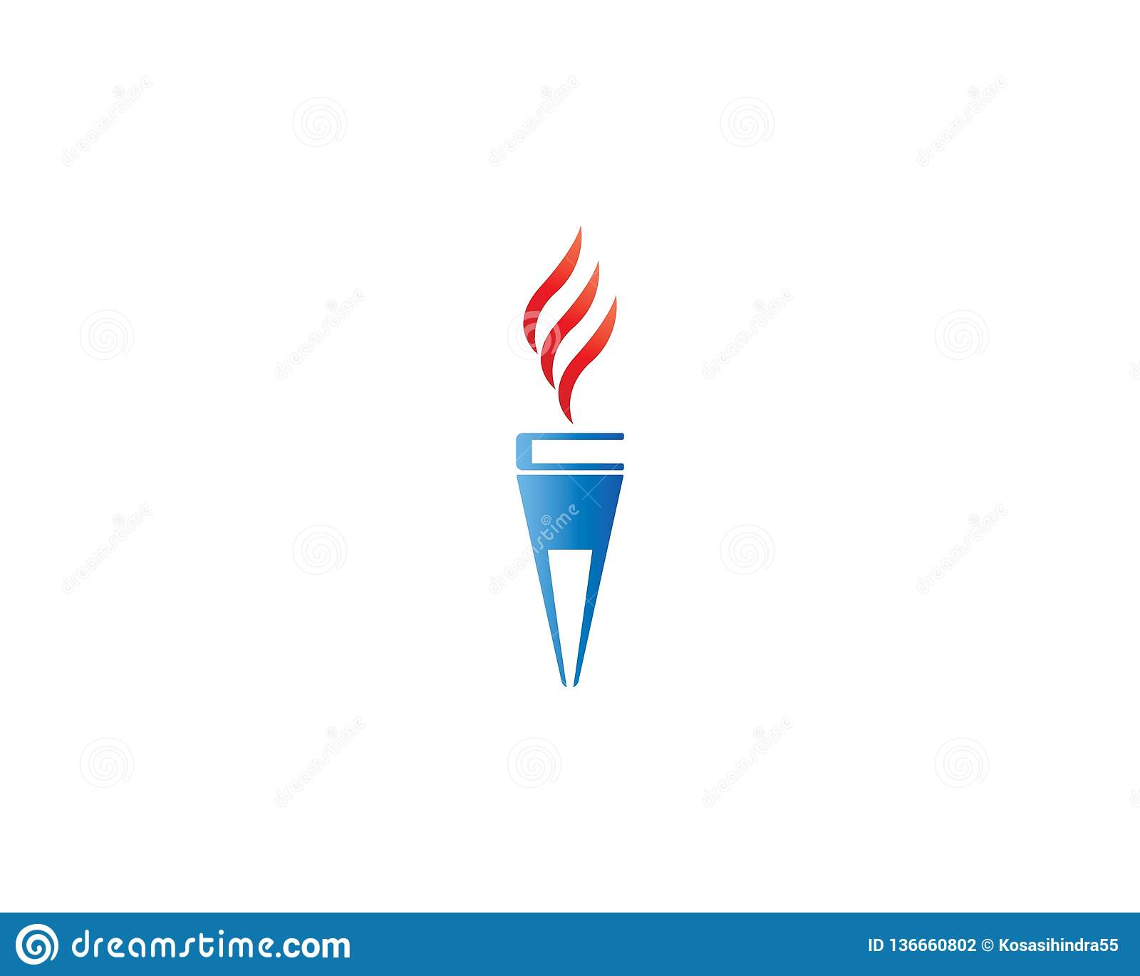 torch logo template stock