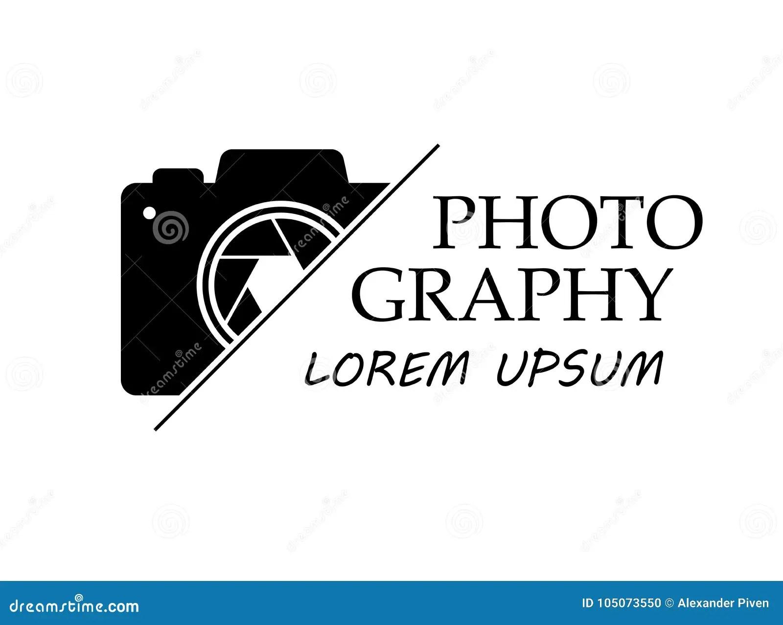 Vector Logo For Photographer. Logo Template Photography