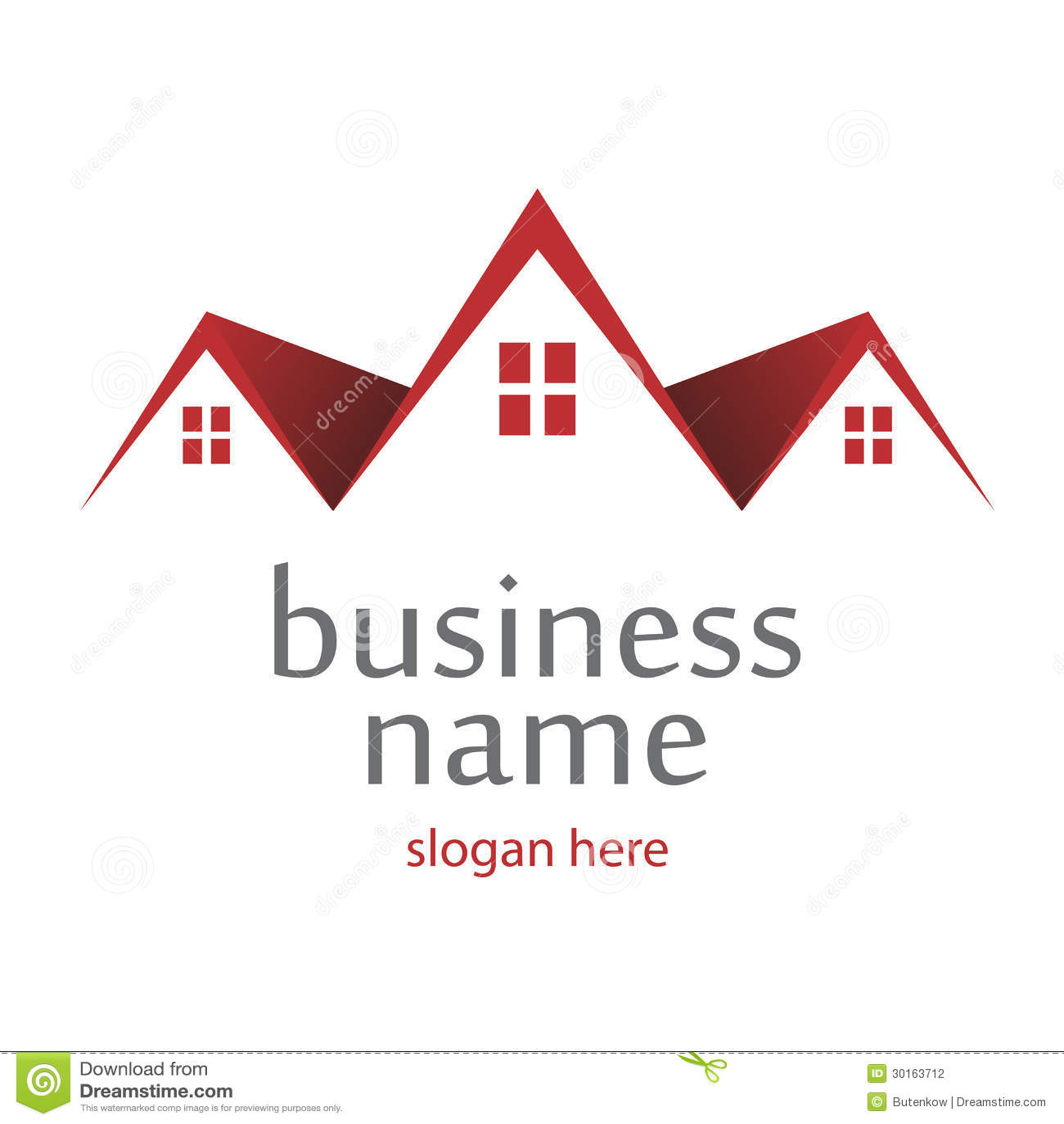 Logo Roofs Stock Vector Illustration Of Logo, Office