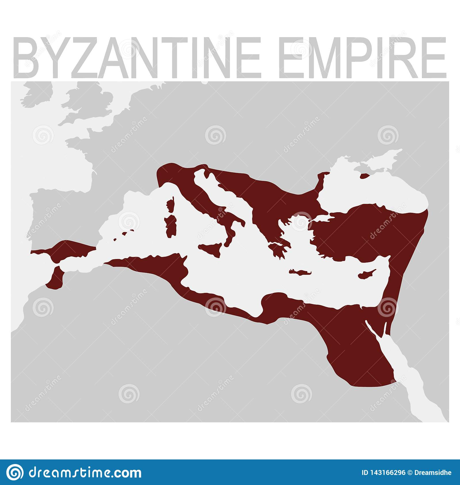 Vector Map Of The Byzantine Empire Stock Vector
