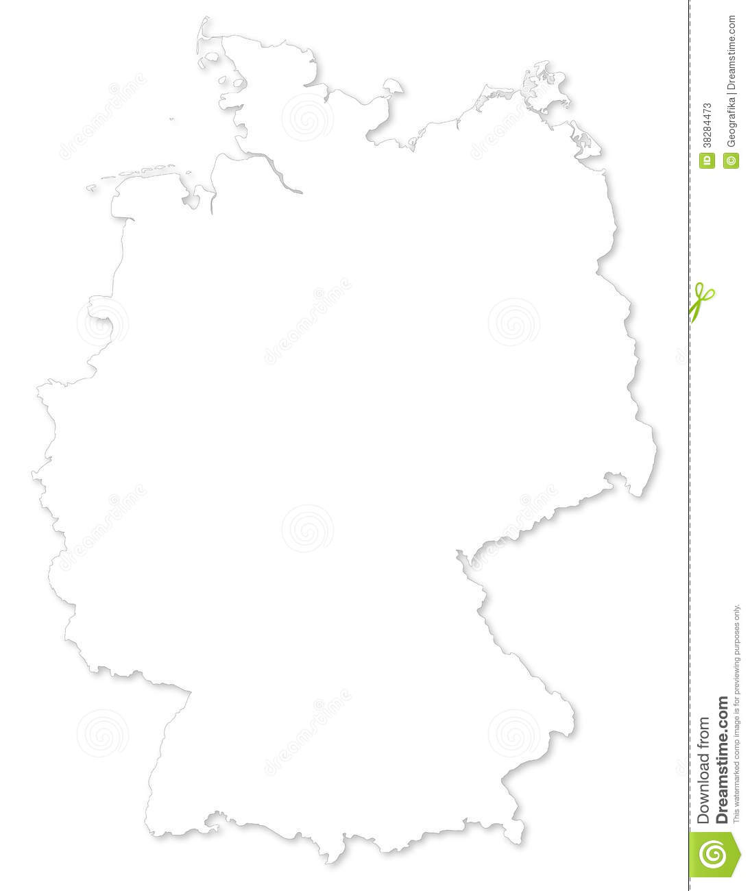 Vector Map Of Germany On White Background Stock Photos