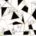 Vector Marble Texture Design With Golden Geometric Lines Black And White Marbling Surface Modern Luxurious Background Stock Vector Illustration Of Black Organic 117469440