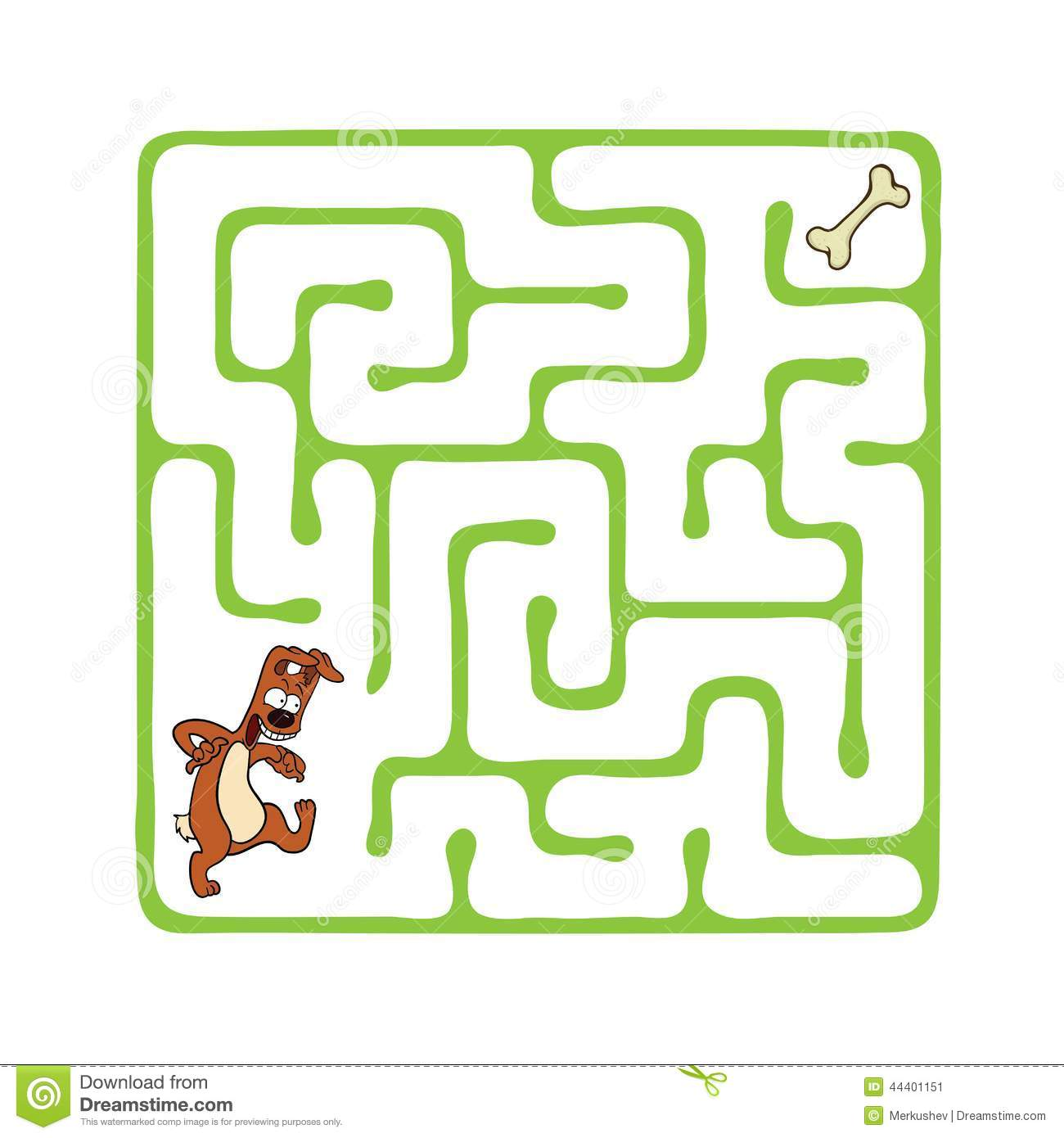 Vector Maze Labyrinth With Dog Stock Vector