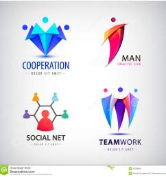 vector men group logo human family teamwork social net leader icon community people sign in modern style colorful 3 person [ 1300 x 1337 Pixel ]