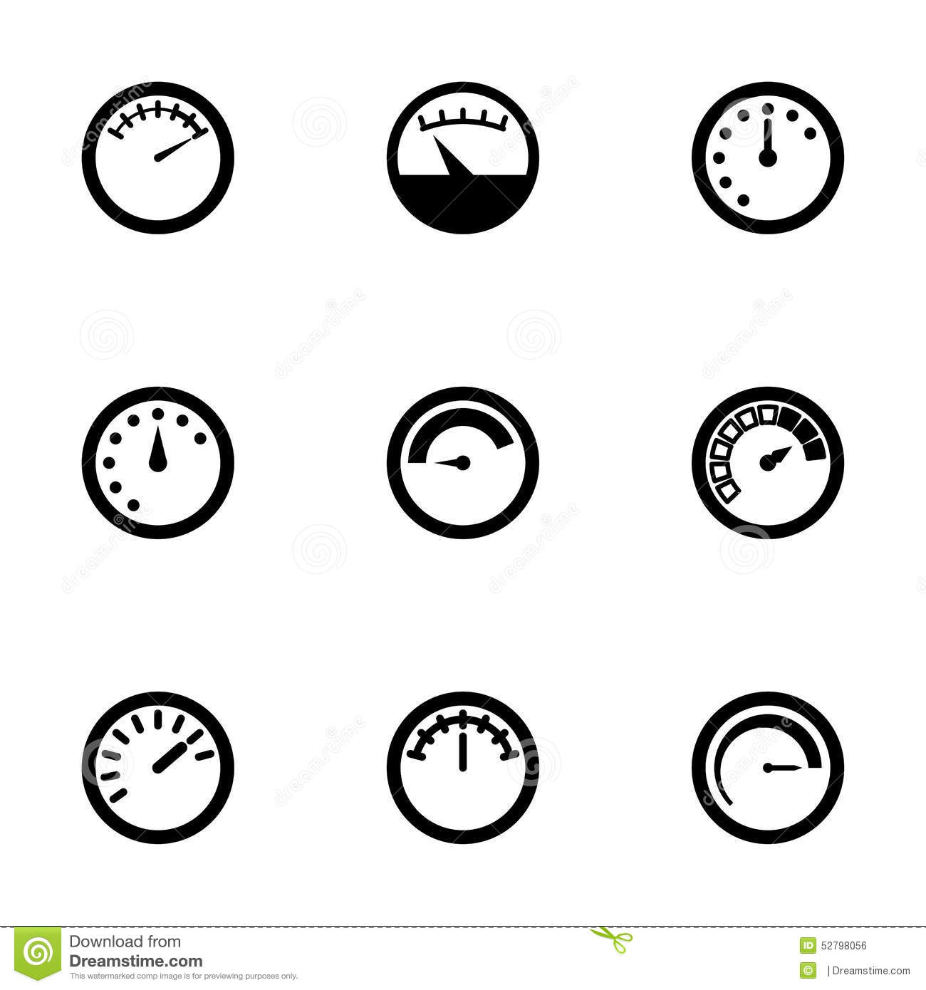 Vector Meter Icon Set Stock Vector Illustration Of Plug