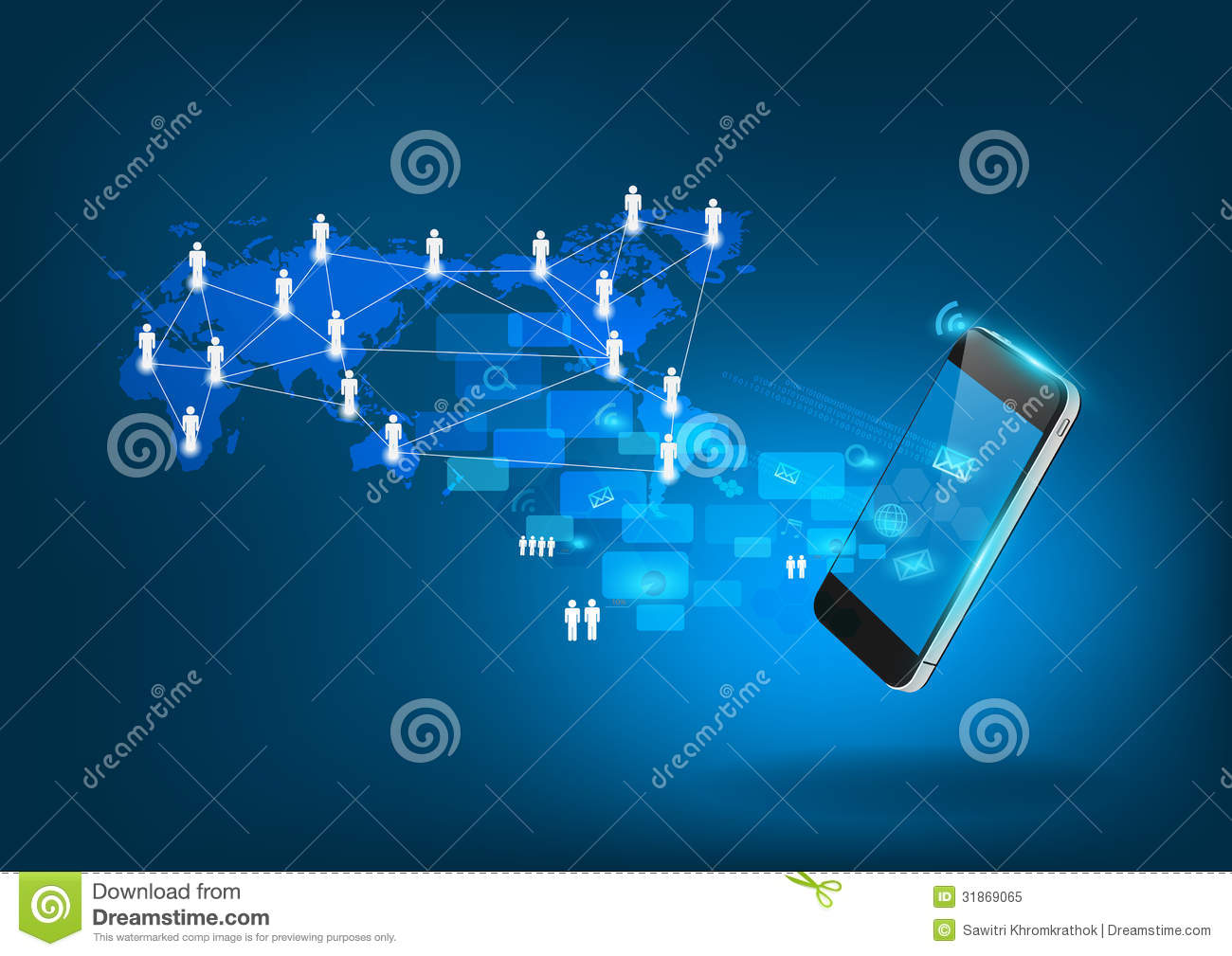 elements of communication diagram 3 gang switch wiring multiple lights vector mobile phone technology business concept royalty free stock photo - image: 31869065