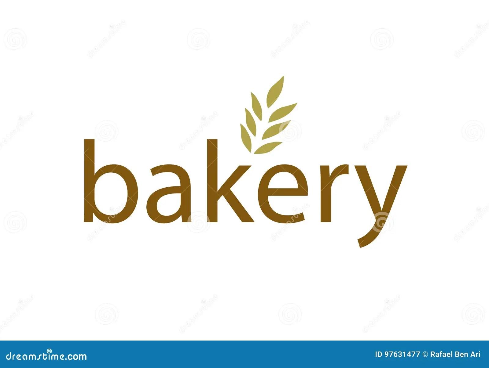 Vector Modern Bakery Logo Isolated On White Background Vector