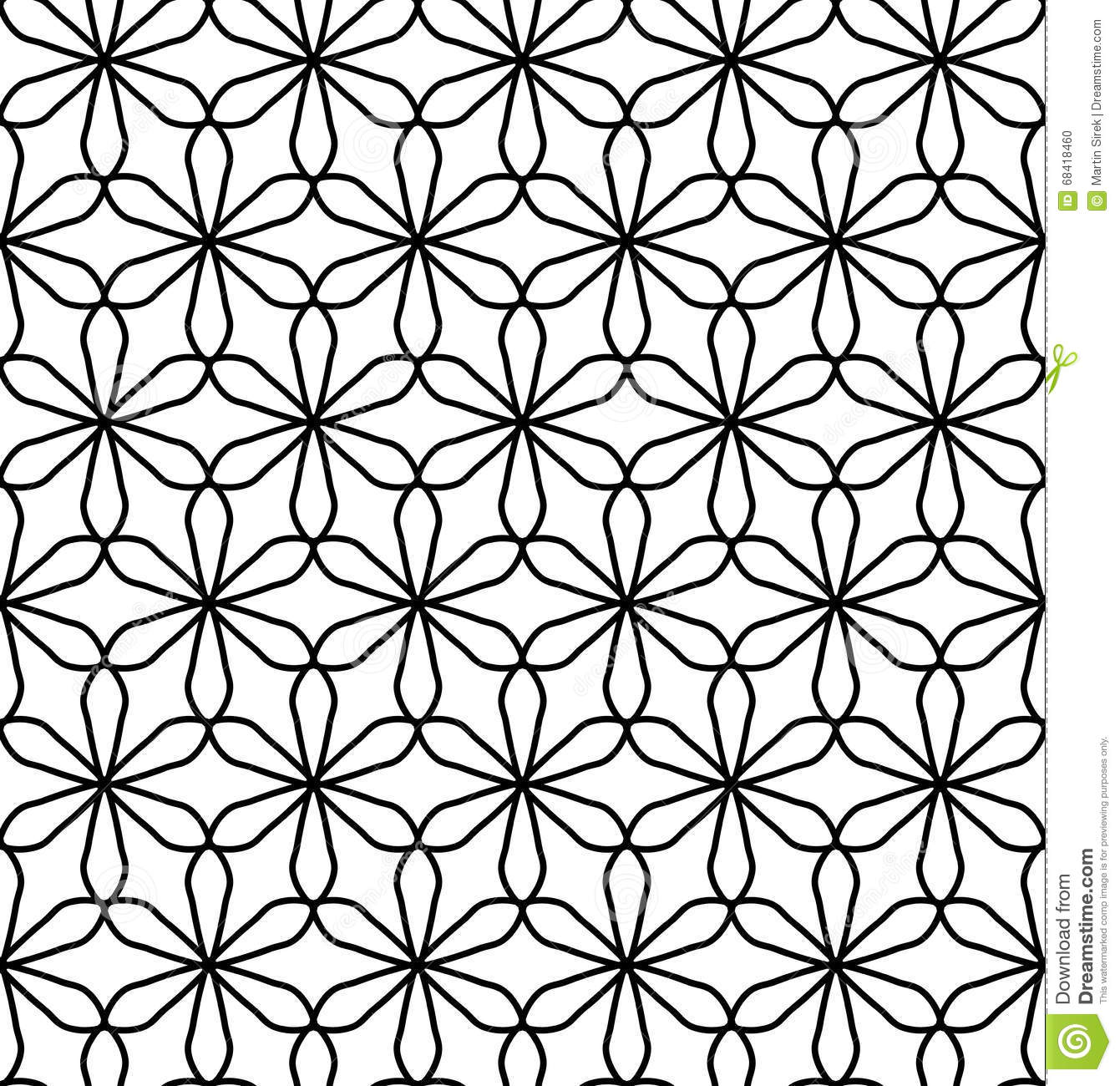 Vector Modern Seamless Geometry Pattern Flower Of Life