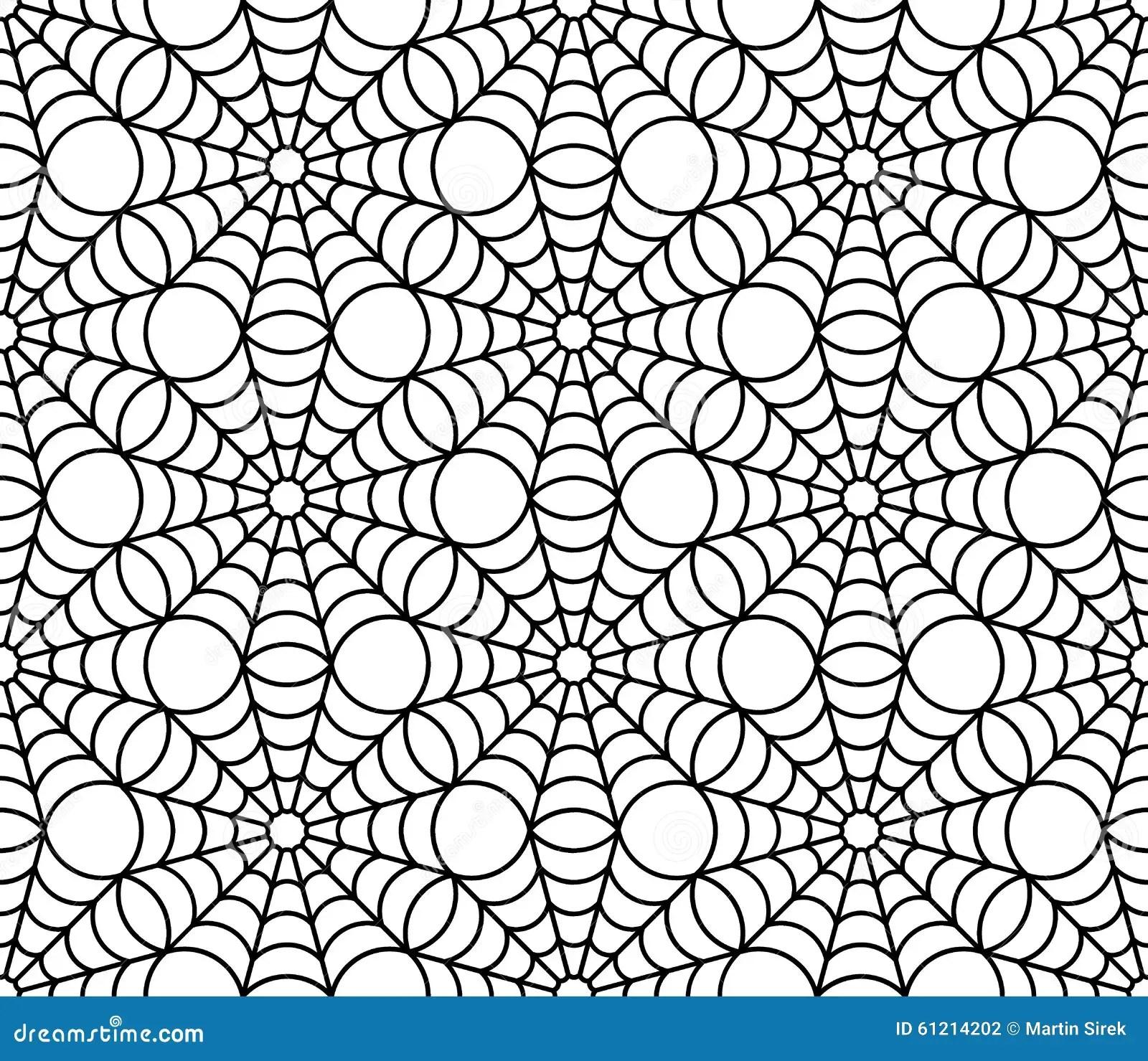 Vector Modern Seamless Geometry Pattern Spider Web