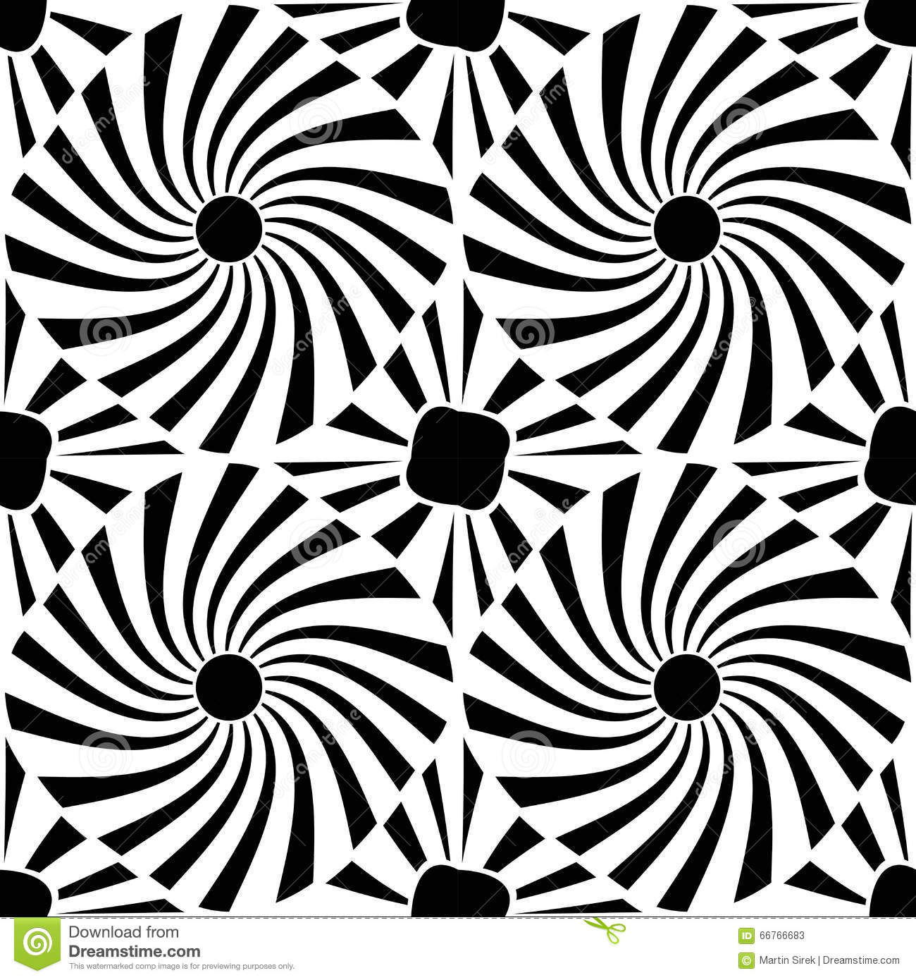 Vector Modern Seamless Geometry Pattern Trippy, Black And