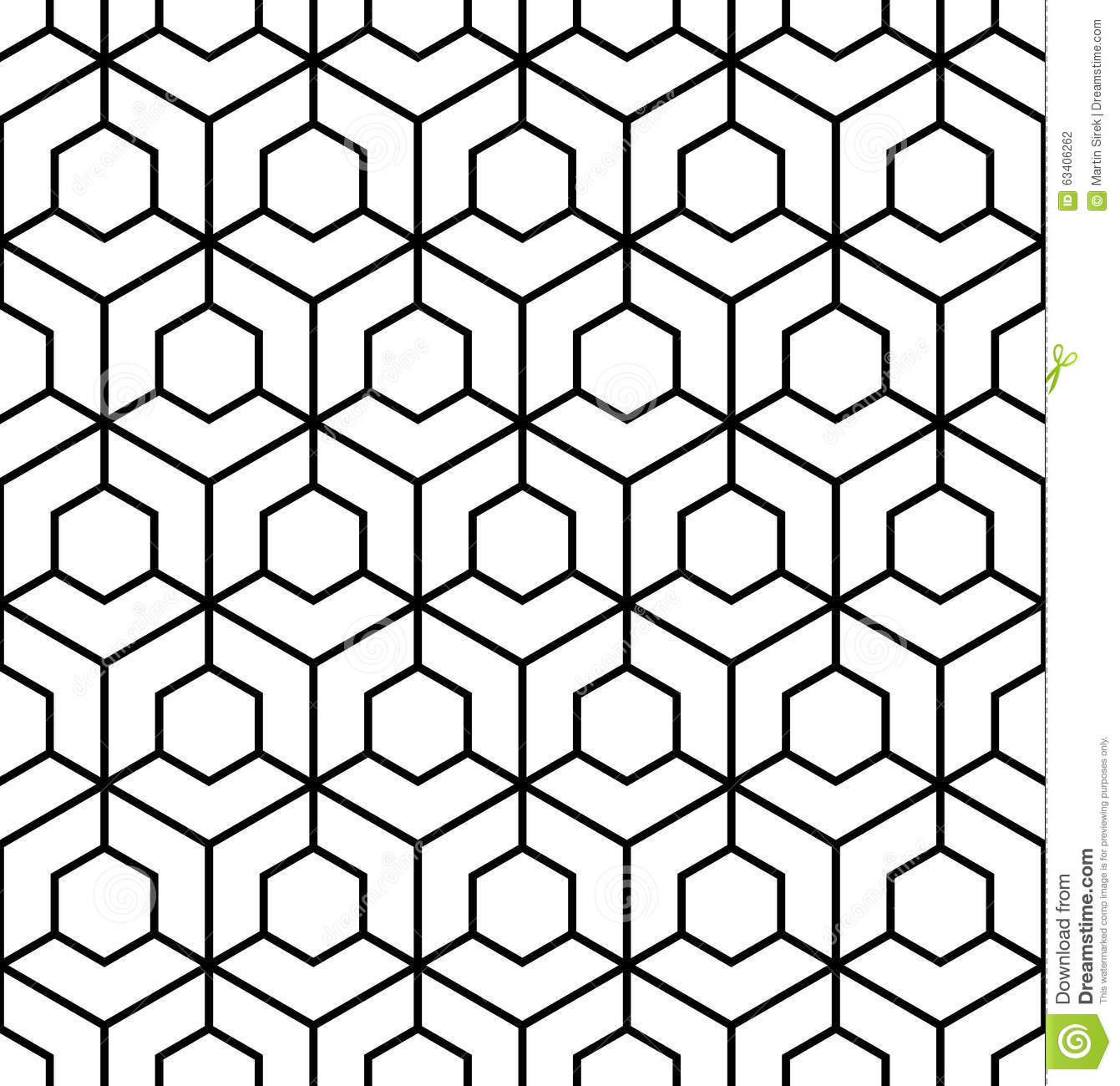 Vector Modern Seamless Sacred Geometry Pattern, Black And