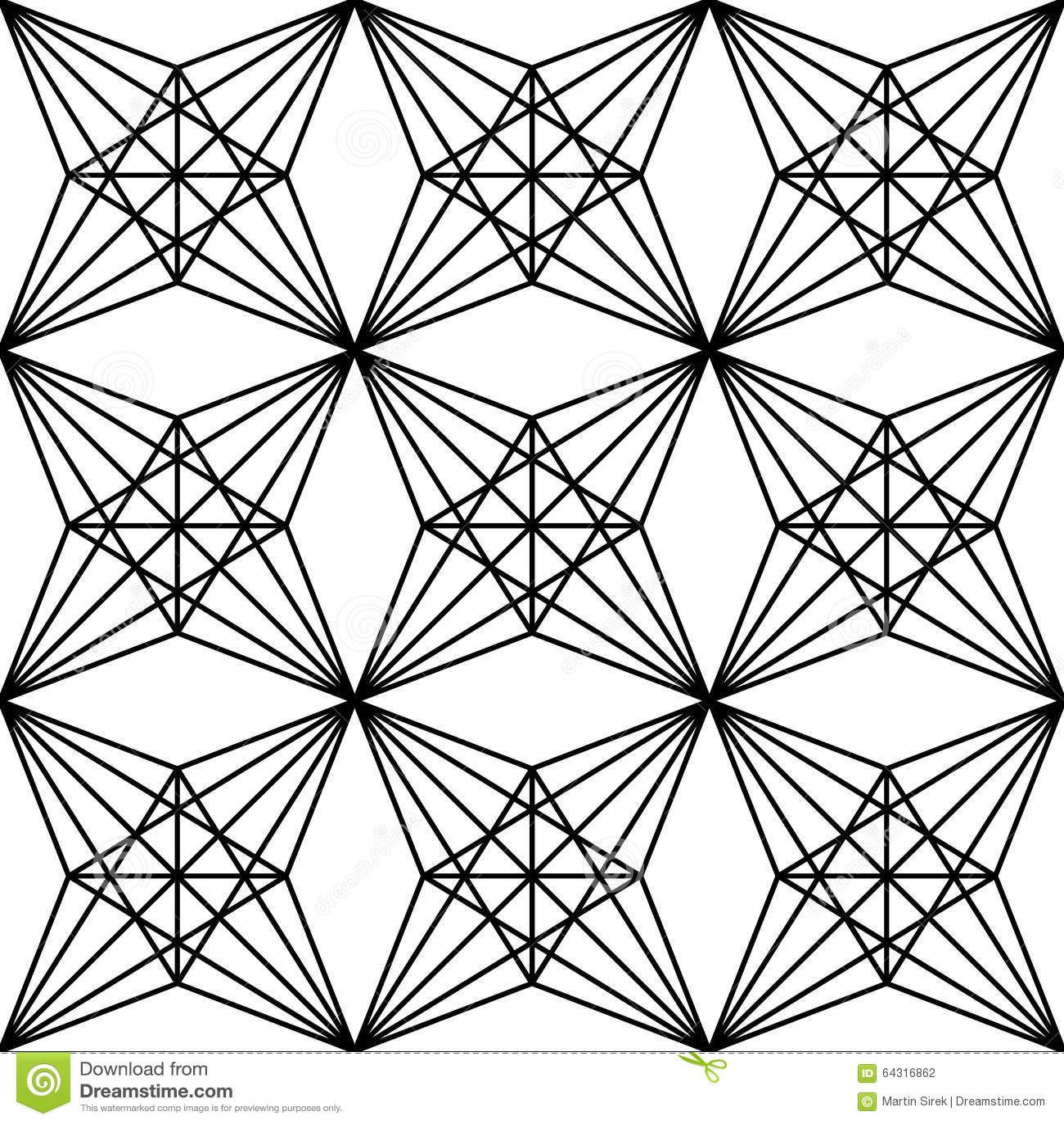 Vector Modern Seamless Sacred Geometry Pattern Polygon